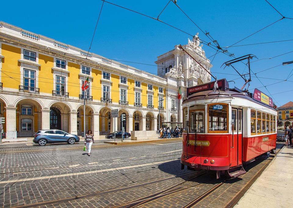 Tram, Train, Travel, Lisbon, Portugal, Architecture
