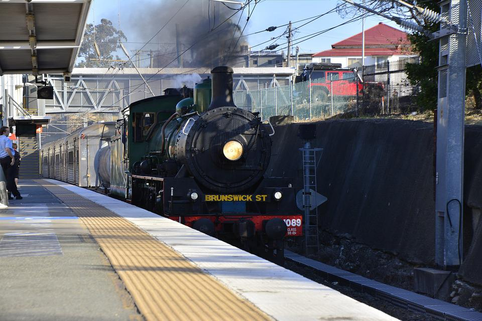 Australia, Brisbane, Steam, Train, Railway