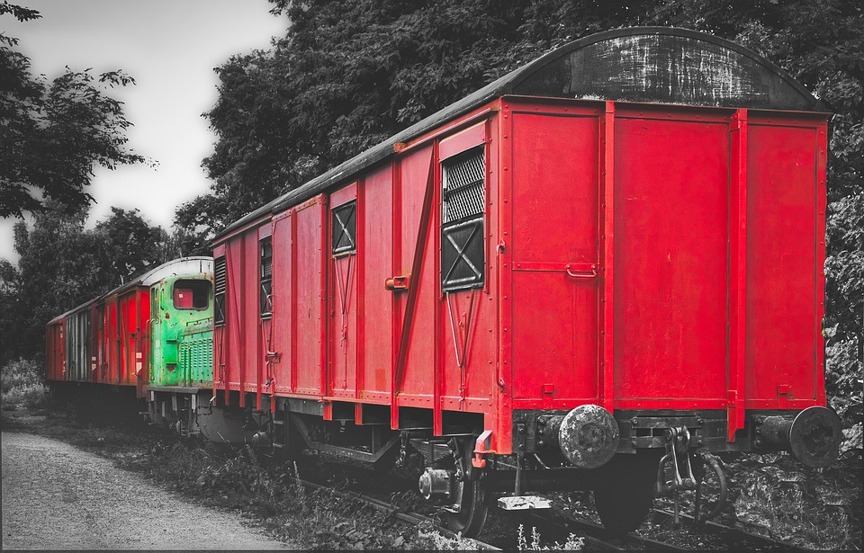 Wagon, Old, Retired, Obsolete, Turned Off, Train