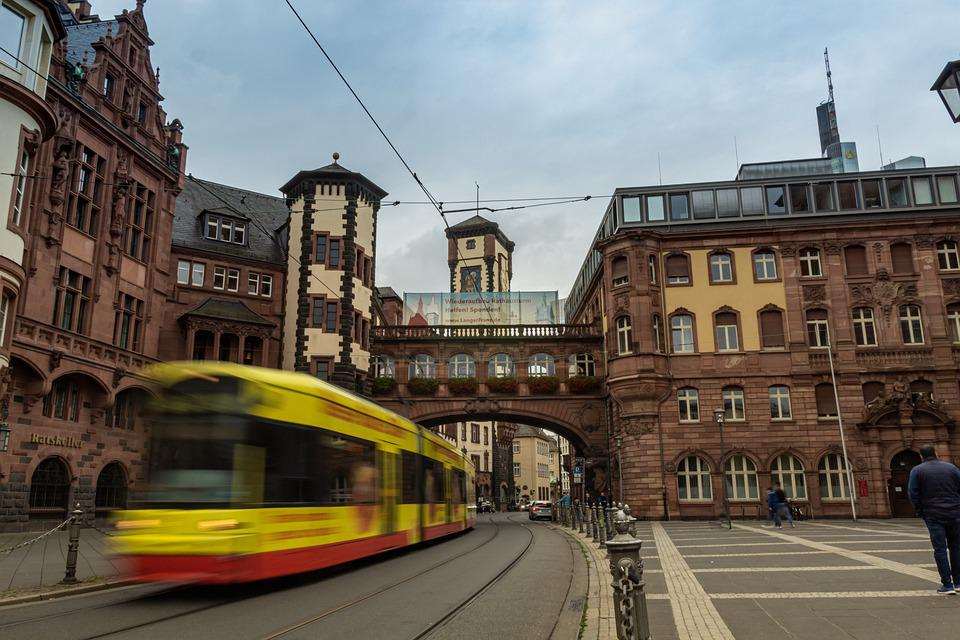 Street, Building, City, Road, Cable Car, Bus, Train