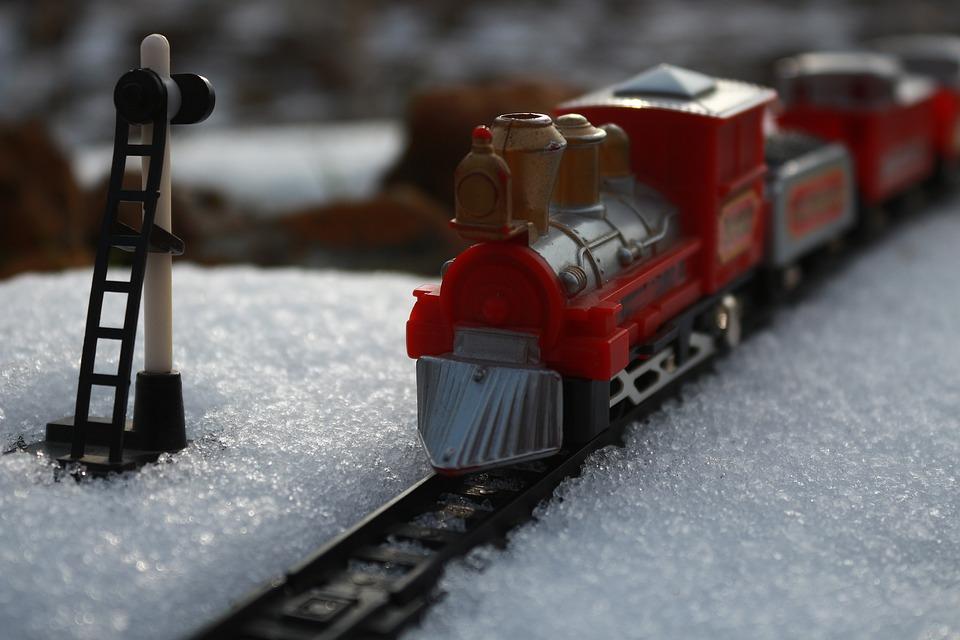 Snow, Winter, Train, Ray, Locomotive, Wagon