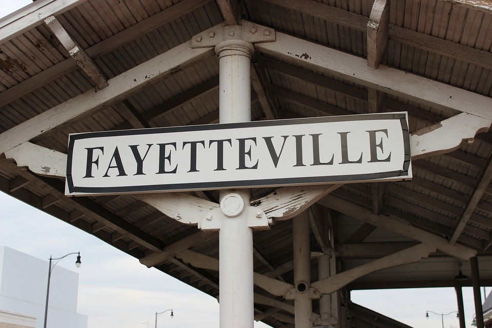 Sign, Train Station, Fayetteville