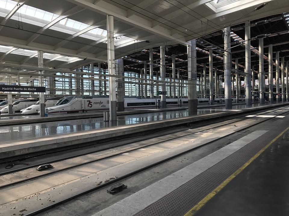 Train, Station, Madrid, Train Station, Platform