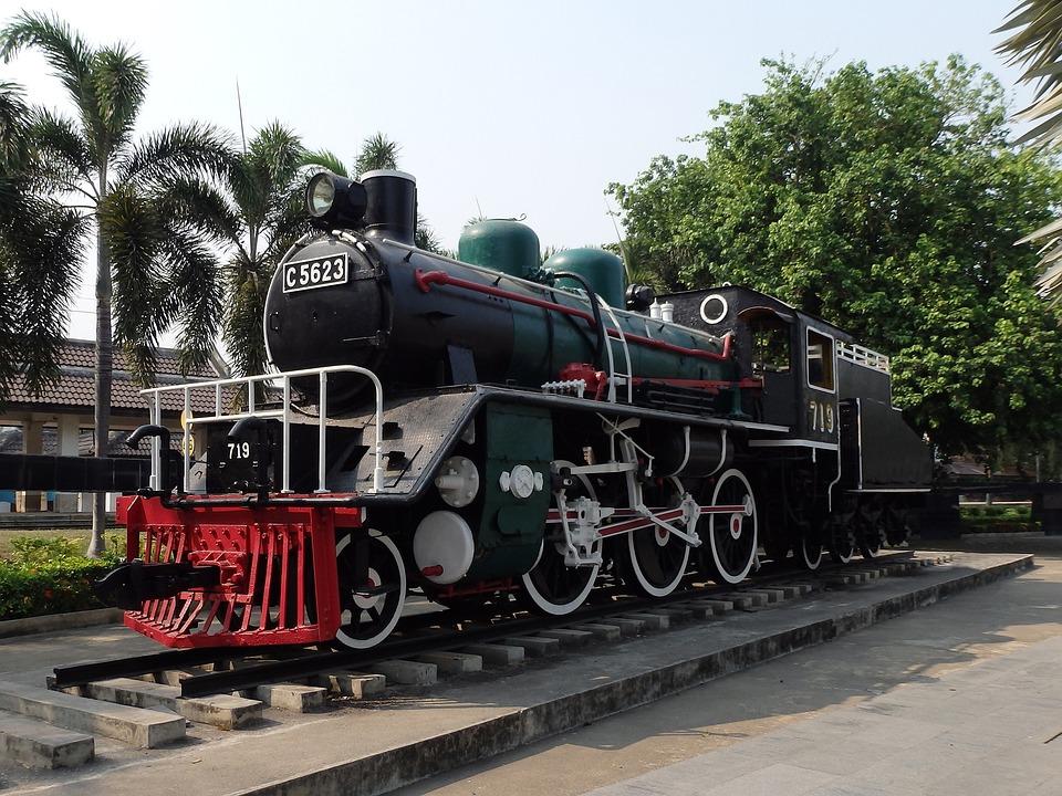 Train, Thailand, Vintage, Asia, Old, Steel, Metal
