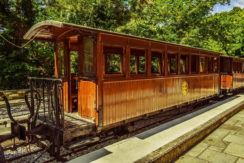 Wagon, Wooden, Open, Summer, Vintage, Train