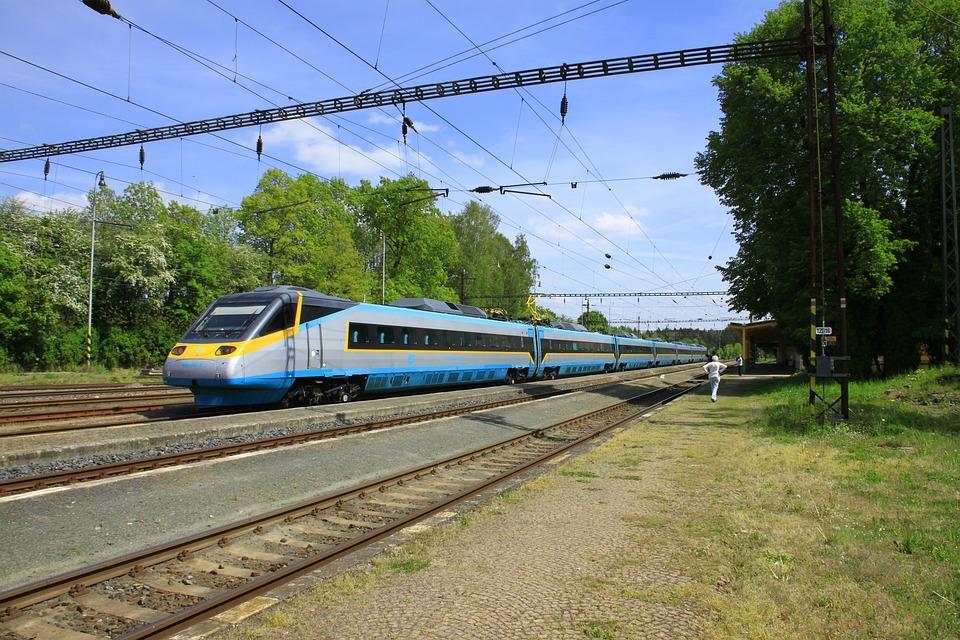Czech Republic, Pendolino, Lazne, Train To Prague