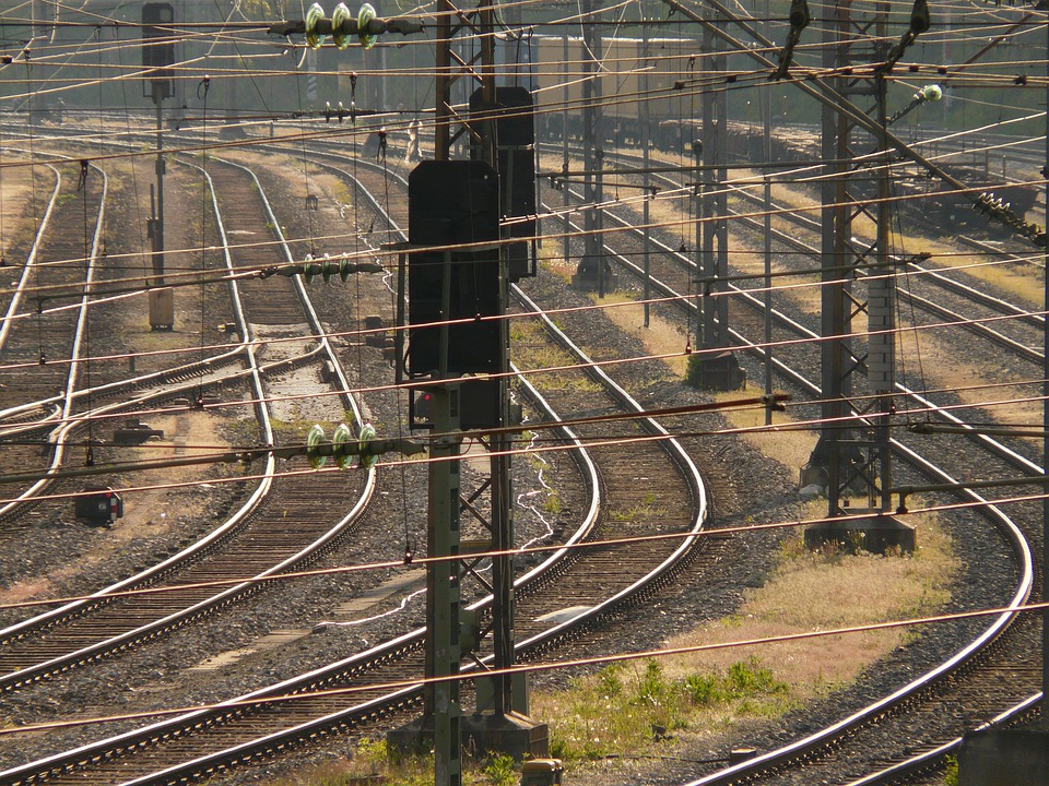 Seemed, Track, Train, Gleise, Travel, Masts, Power Line
