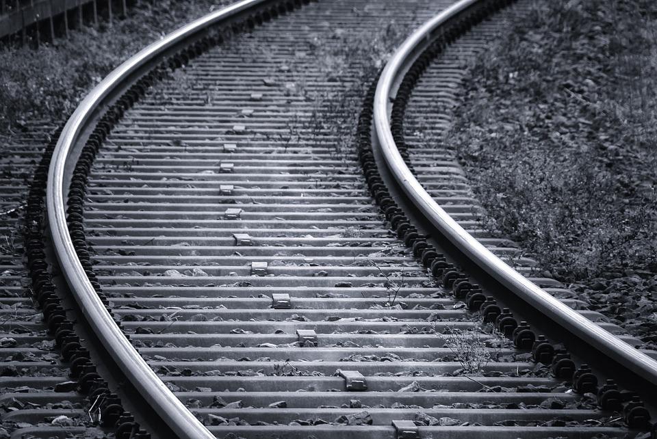 Rails, Railroad Tracks, Track, Train, Railway Sleepers