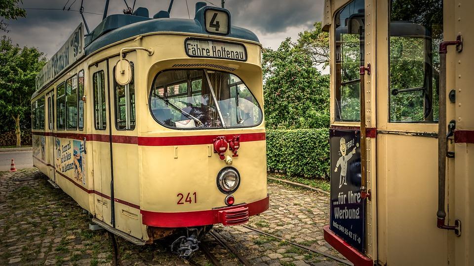 Tram, Old, Road, Transport, Traffic, Train, Rail, Dare