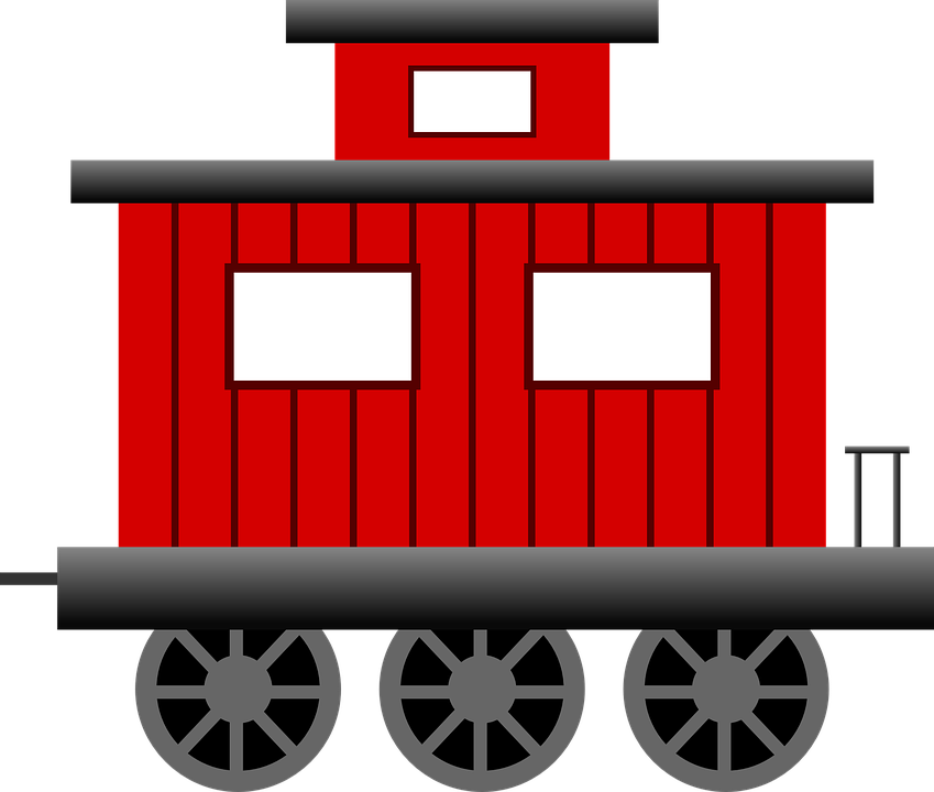 Caboose, Train, Transportation, Railroad, Railway