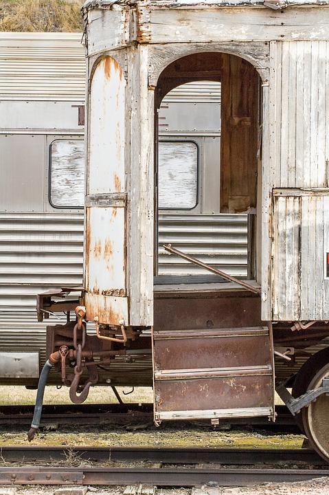 Train, Antique, Cars, Wooden, White, Windows, Passenger