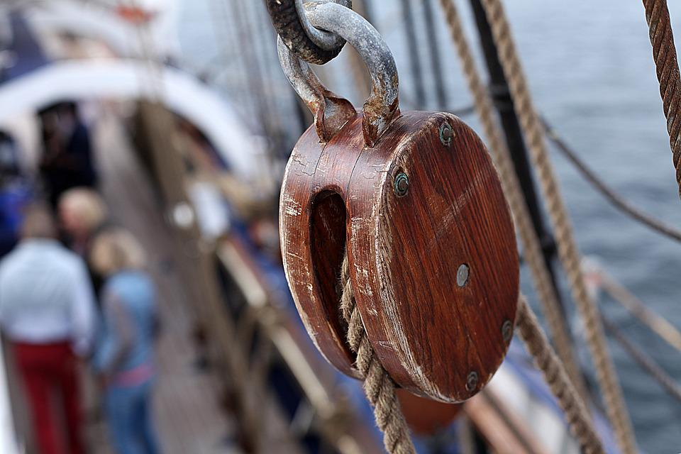 Gorch Fock, Training Ship, Dew, Harness Lines, Sail