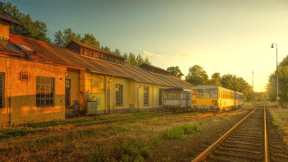 Railway Station, Track, Trains, Nostalgic