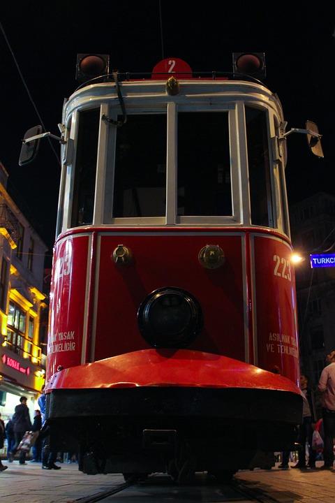 Tram, Istanbul, Turkey, Beyoglu, Tram Tracks