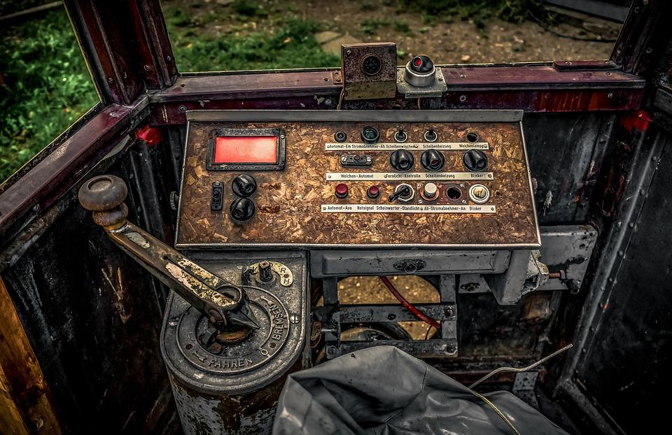 Tram, Valve, Cockpit, Interior, Vehicle, Oldtimer