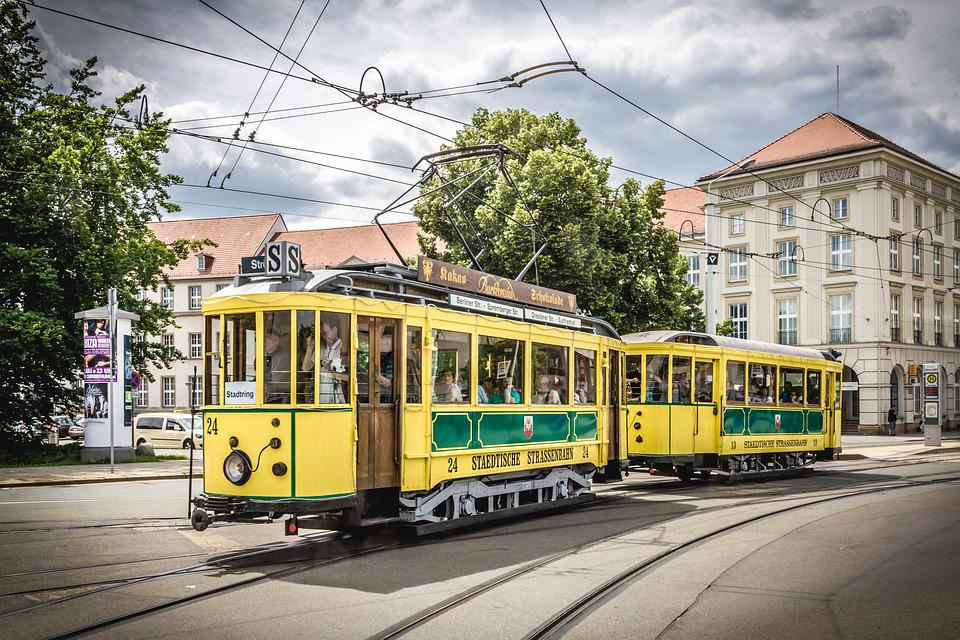 Tram, Cottbus, Historically, Germany, Brandenburg, Dare