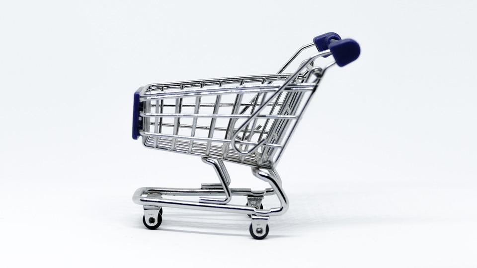 Cart, Supermarket, Tram, Basket, Isolated, Economy