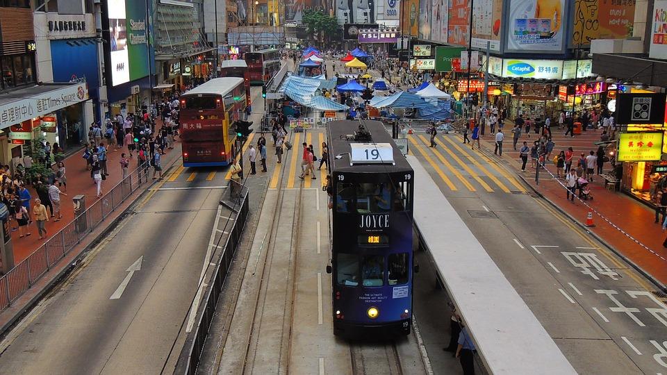 Hongkong, Tram, Asia, Hong, Kong, Tourism, Tourist