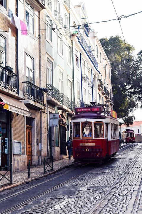 Portugal, Europe, Tram, Tracks, Train, City, History