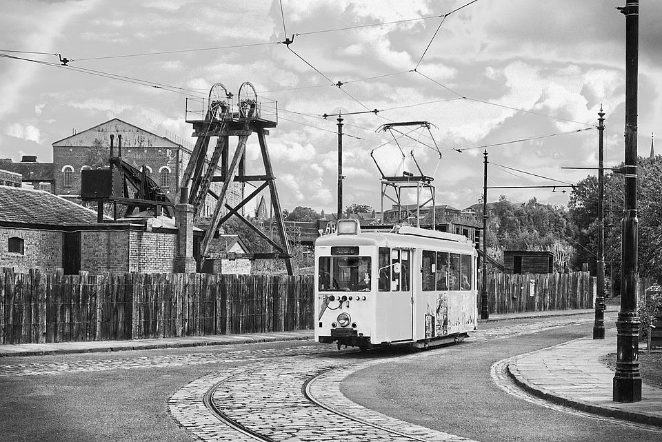 Tram, Trolley, Tramway, Roadway, Transport, Mining