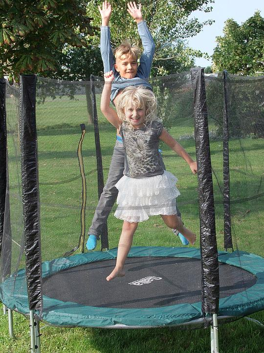 Trampoline, Jump, Action, Sport, Sports Equipment