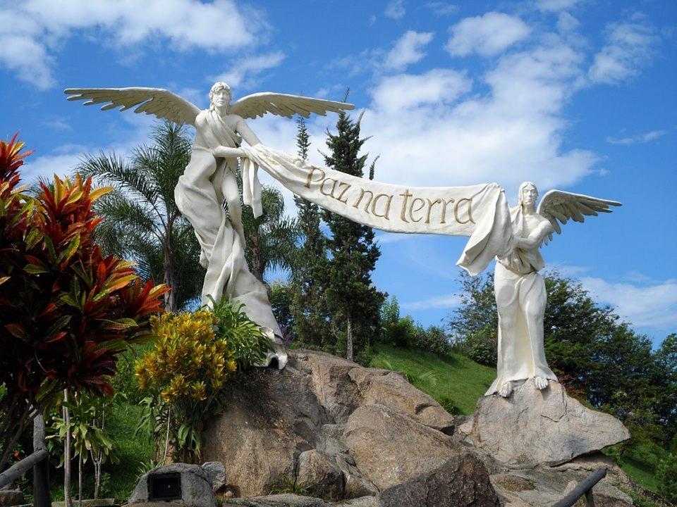 Angels, Peace, Garden Statue, Tranquility, Garden