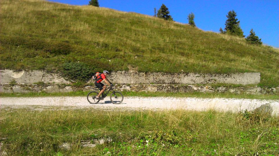 Dolomites, Mountains, Italy, Cyclists, Transalp, Bike