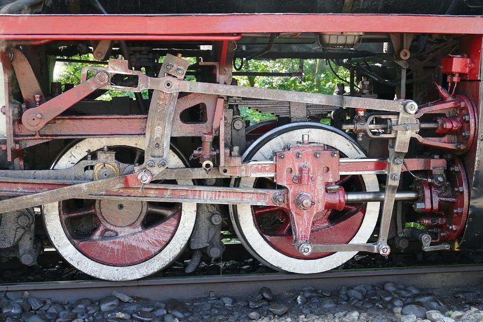 Wheel, Rod, Transmission, Railway, Steam Locomotive