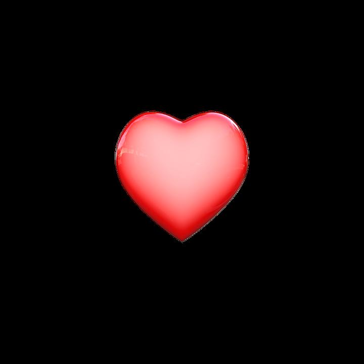 Heart, Transparent Background, For Design, Graphics