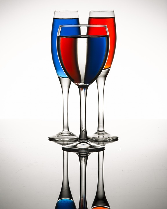 Glassware, Colors, Liquid, Glass, Colorful, Transparent