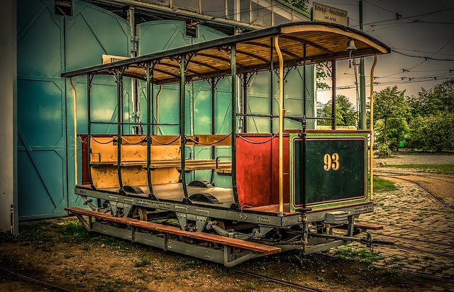 Dare, Wagon, Open, Benches, Railway, Gleise, Transport