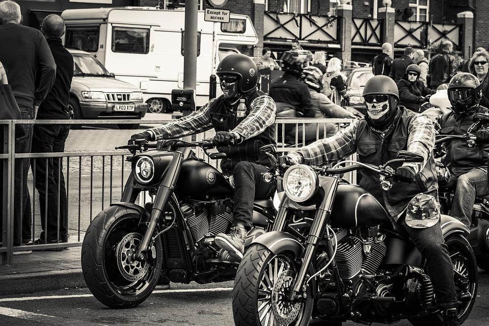 Motorbikes, Black And White, Motorcycle, Transport