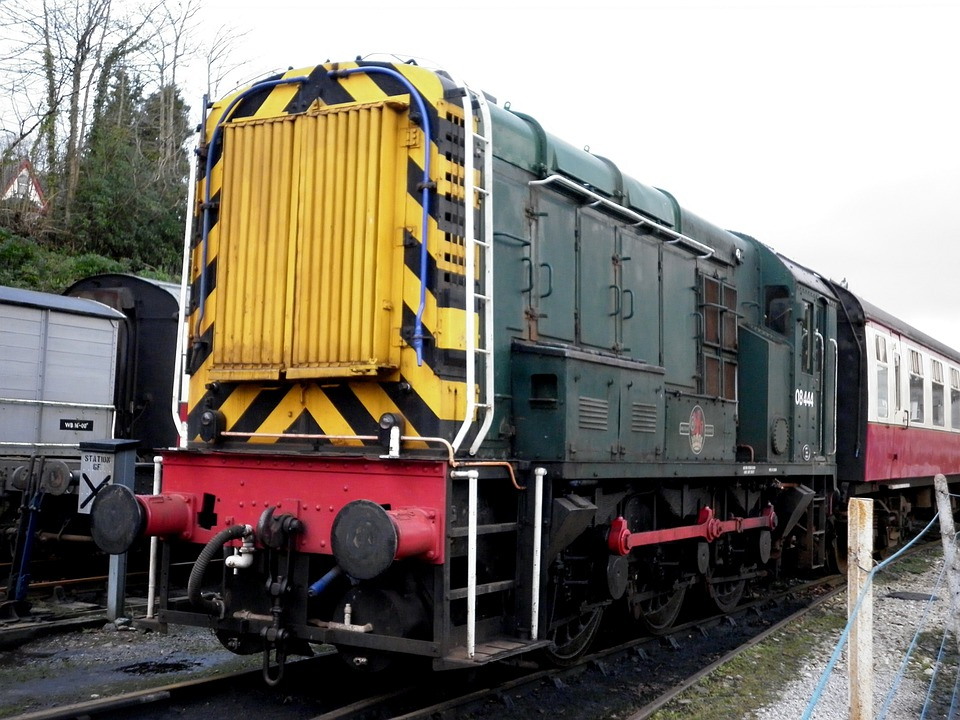 Train, Engine, Caboose, Diesel, Railway, Transport