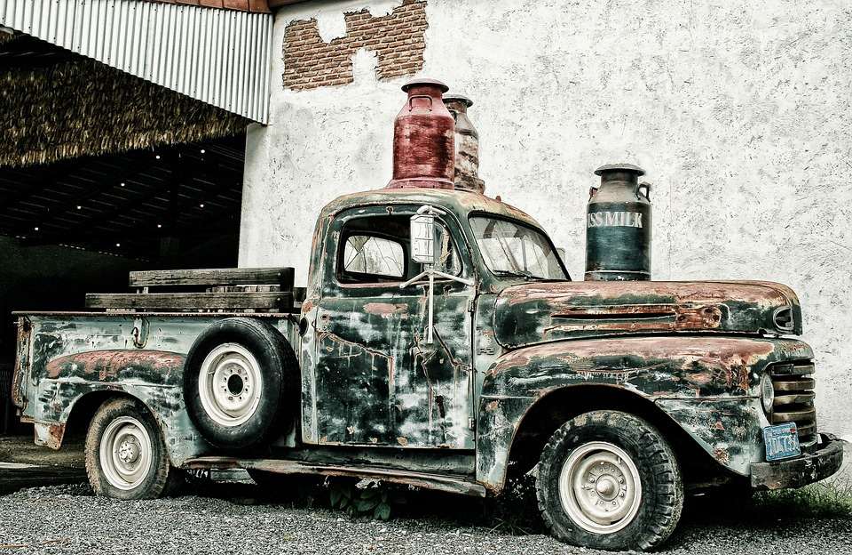 Pickup, Scrap Truck, North America, Oldtimer, Transport