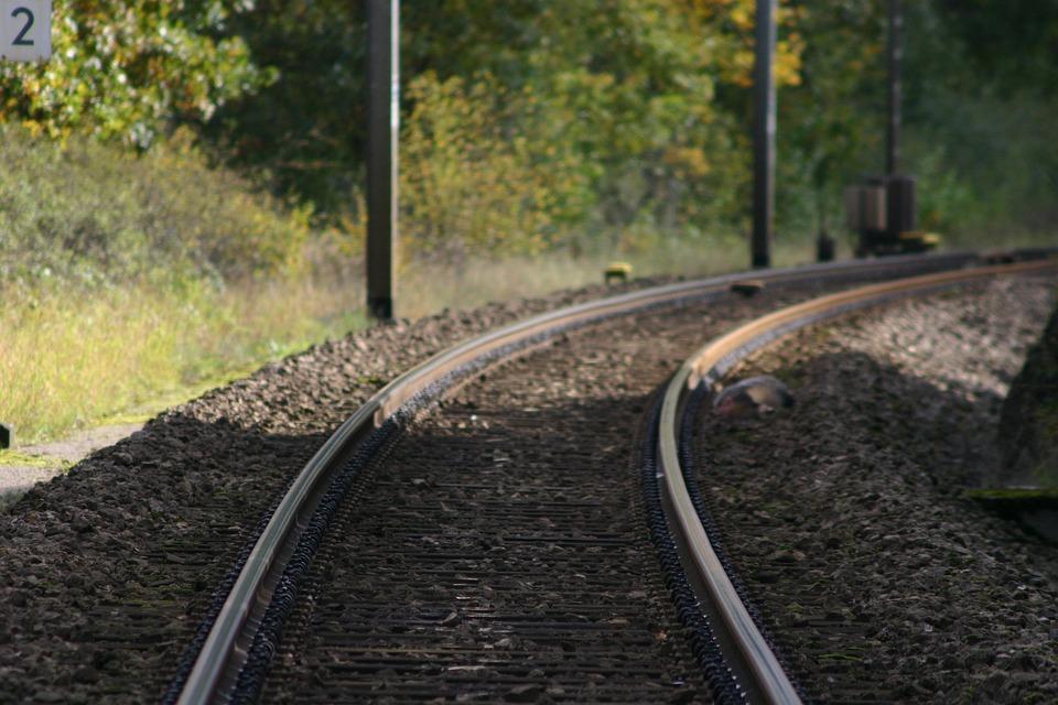 Train Track, Tracks, Railway, Transport, Steel