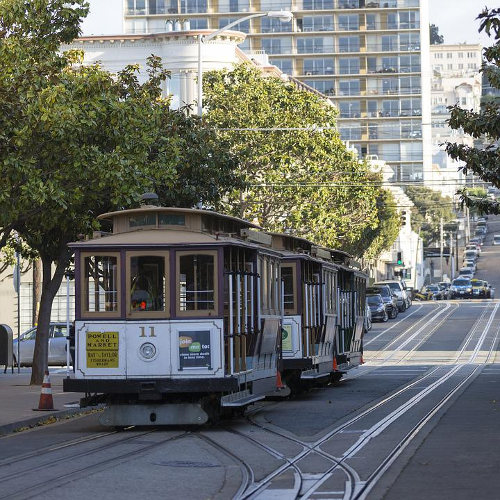 Tram, San Francisco, California, City, Transport