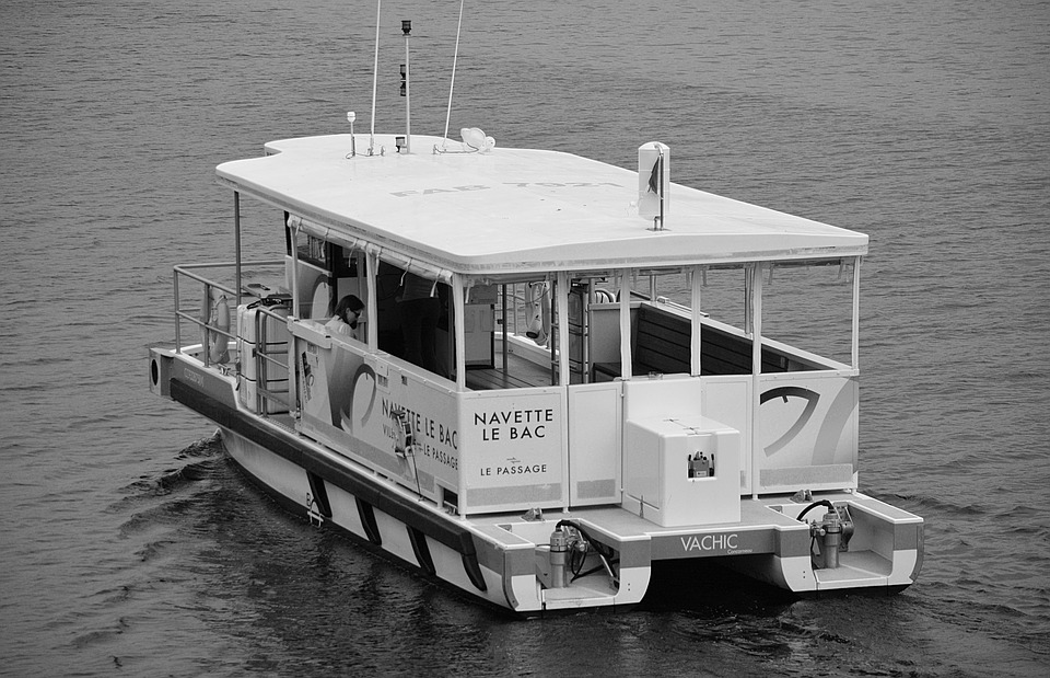 Shuttle, Tray, Black And White, Transport, Passengers
