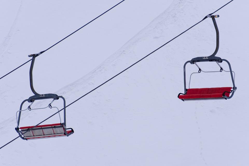 Ski Lift, Chairlift, Carry, Transport, Ski Holiday