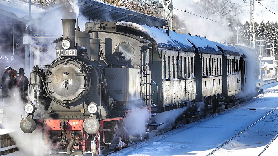 Motor, Steam, Transport System, Train, Railway Line