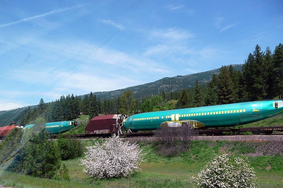 Train, Transportation, Airplane, Transport, Aircraft