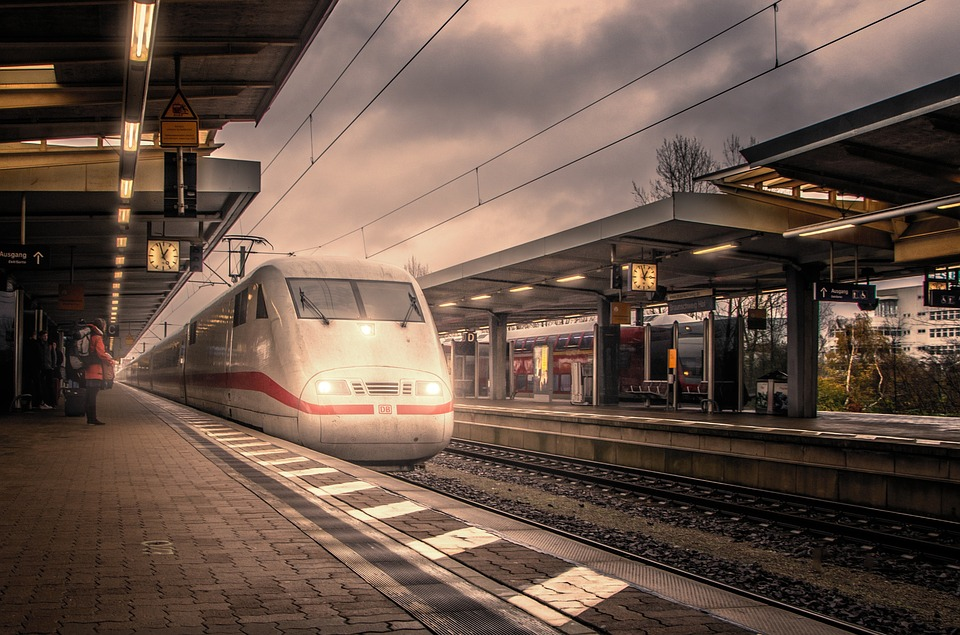 Train, Railway Station, Travel, Transport, Rails