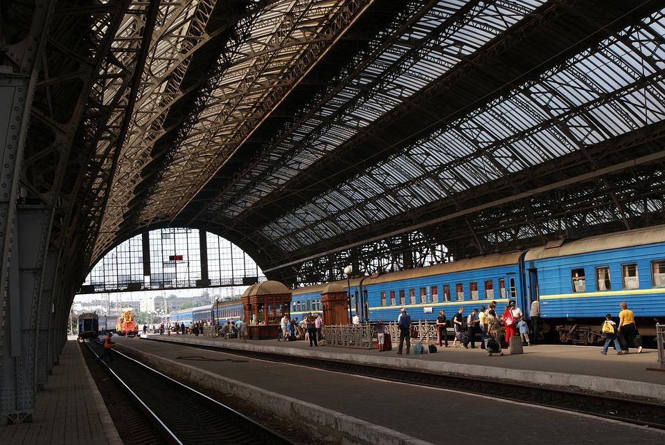 Lions, Lviv, Lvov, Ukraine, Railway Station, Transport