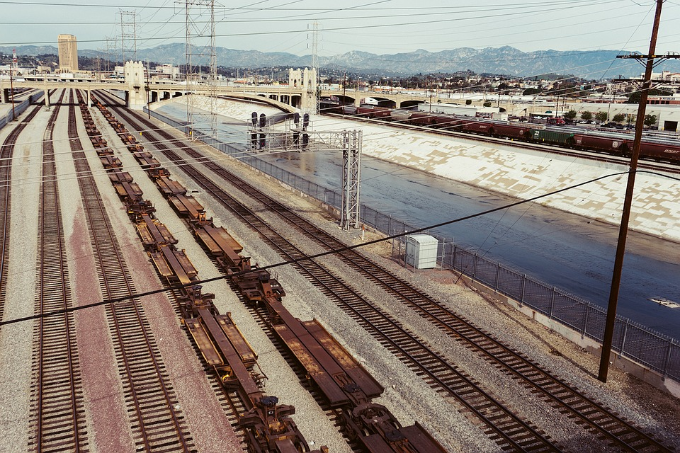 free photo transportation city railway railroad train tracks max pixel