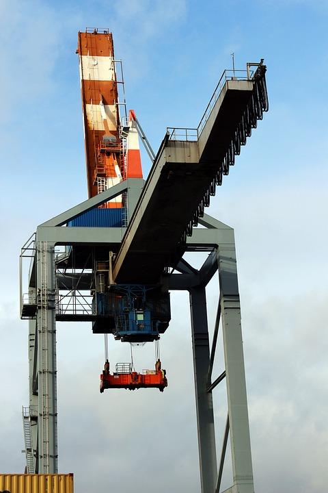 Crane, Container Crane, Cargo, Transportation, Harbor