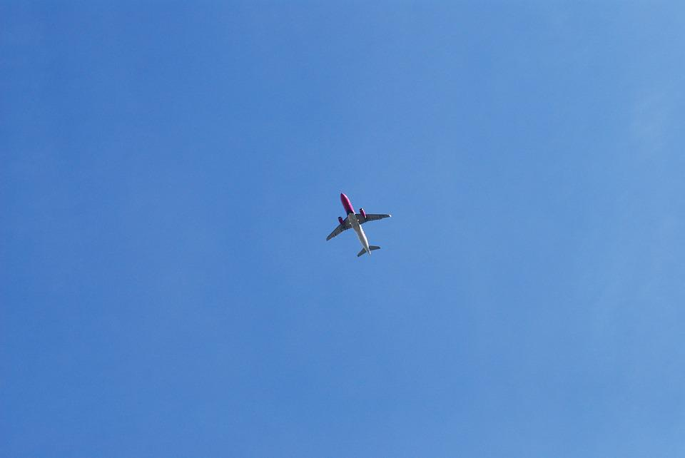 Airplane, Sky, Travel, Aircraft, Transportation