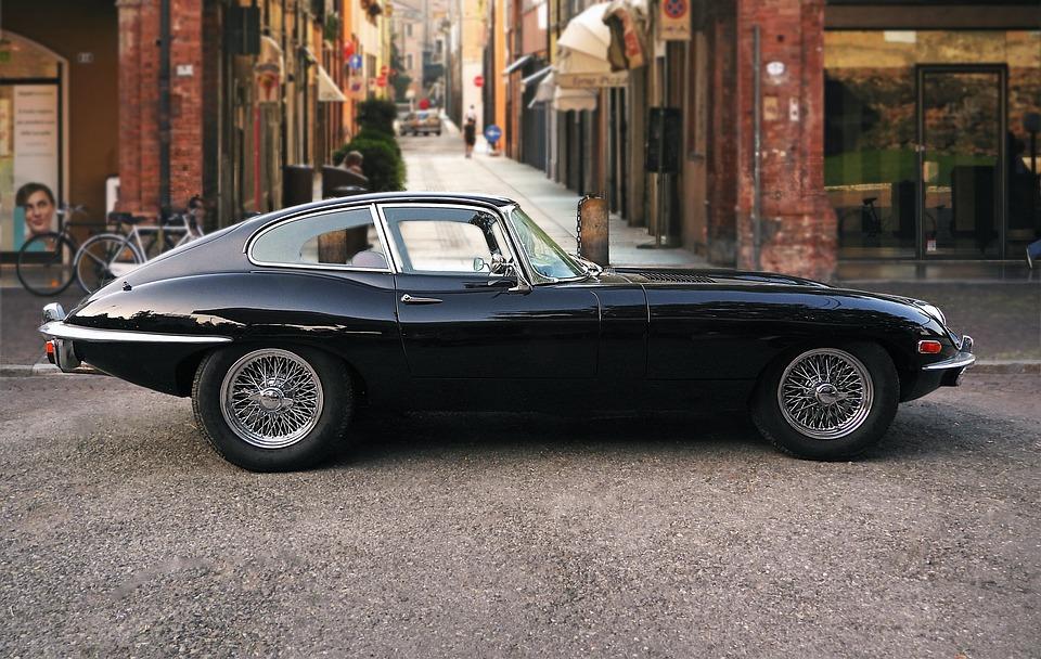 Traffic, Transportation, Car, Jaguar, E-type, Black