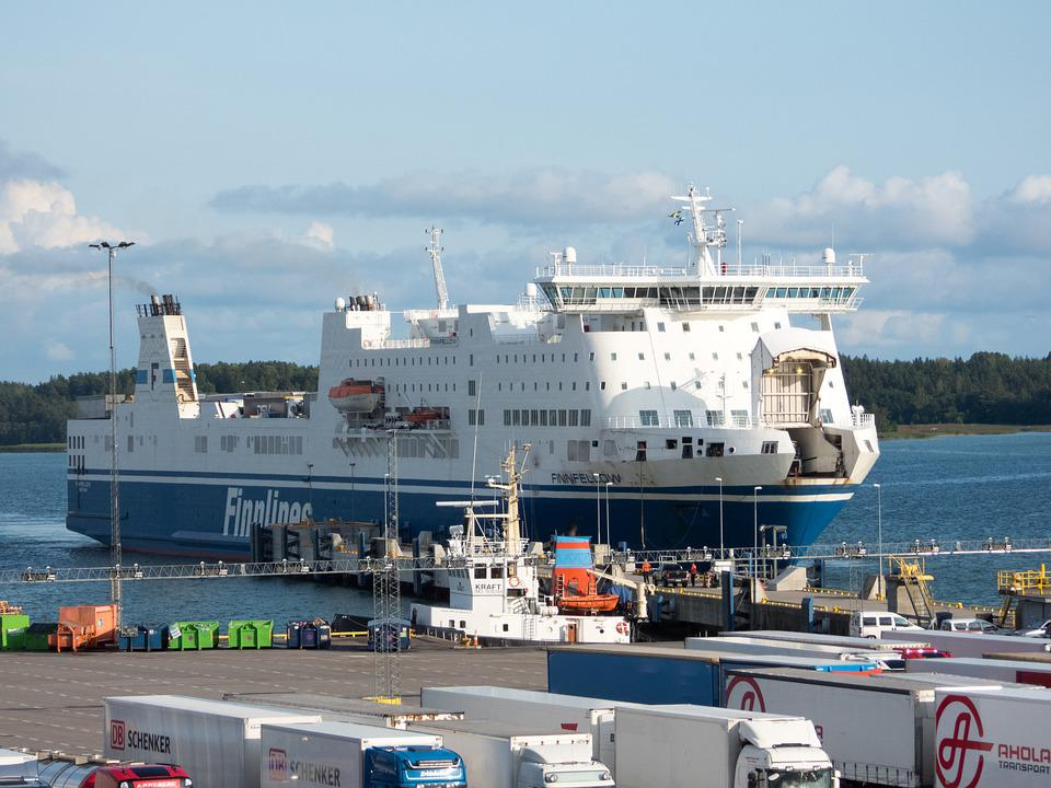 Transportation, Traffic, Ro-ro, Vessel, Ship, Freight