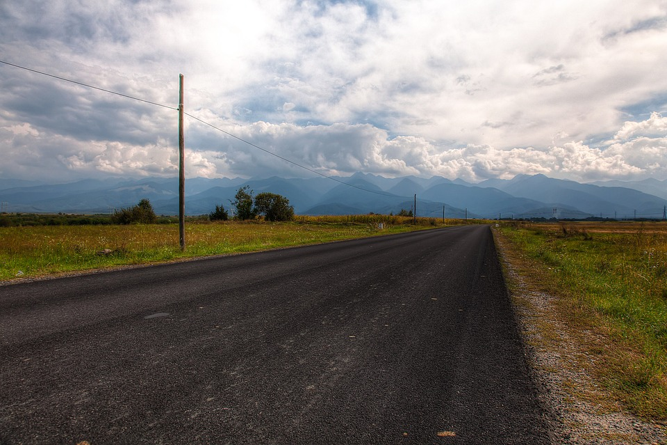 Road, Asphalt, Guidance, Sky, Nature, Transylvania