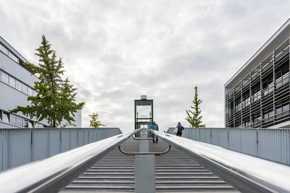 Maastricht, Trap, Mesh, Pedestrian Bridge, Bridge