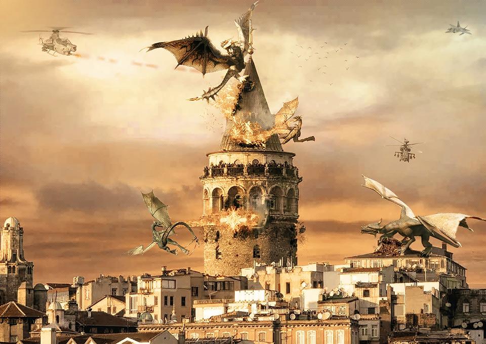 Istanbul, Galata, City, Travel, Architecture, Panoramic